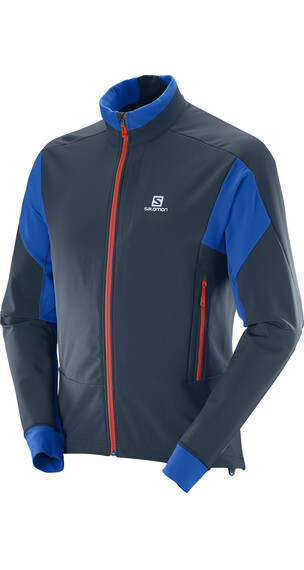 Salomon M's Momentum Softshell Jacket Big Blue-X/Blue Yonder